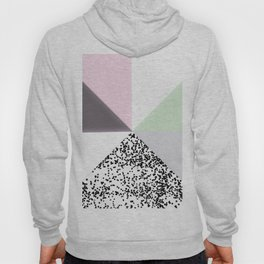 Geometrical black confetti pastel color block Hoody