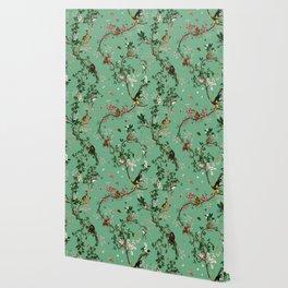 Monkey World Green Wallpaper