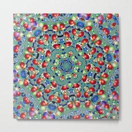 Bead Flower Kaleidoscope Metal Print