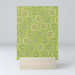 Lime Oranges Pattern Mini Art Print