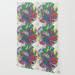 Acrylic Pour Over Swirl Wallpaper