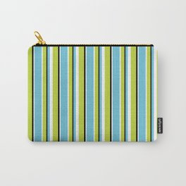 Fun Stripes blue green Carry-All Pouch