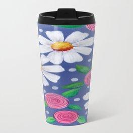 Daisey Pattern Travel Mug