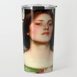 "John William Waterhouse ""Gather Ye Rosebuds While Ye May"" Travel Mug"
