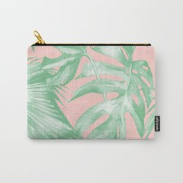 Island Love Seashell Pink Coral + Green Carry-All Pouch