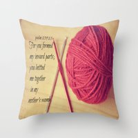 scripture Throw Pillows featuring Psalm 139 Baby Scripture by KimberosePhotography