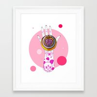 chibi Framed Art Prints featuring Chibi Moon by scoobtoobins