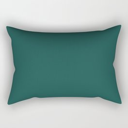 Pantone Forest Biome 19-5230 Green Solid Color Rectangular Pillow