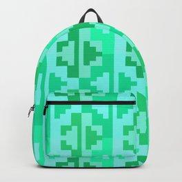 Geometric Aztec Zig-Zag Pattern - Turquoise Backpack