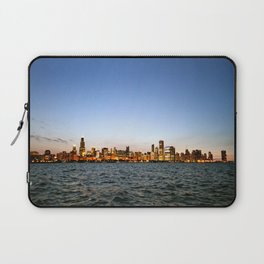 Chicago Skyline Sunset Laptop Sleeve