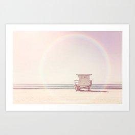 Beach hut Art Print