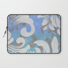 Blue Boho Rococo Sunset Bougie Ombre Print Laptop Sleeve