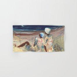 On the Beach by Victor Laredo Hand & Bath Towel
