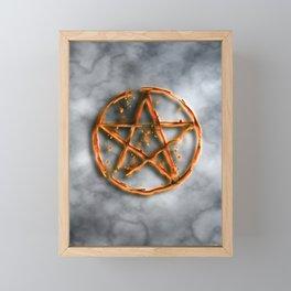 Supernatural devil's trap Framed Mini Art Print