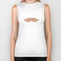 mustache Biker Tanks featuring mustache by Grace