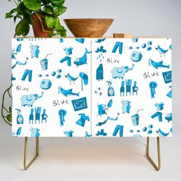 Blue Things Credenza