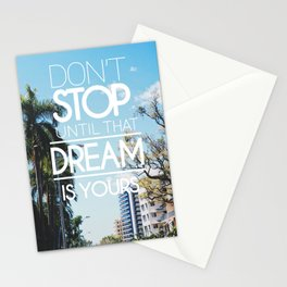 Inspirational Dreams Quote Stationery Cards