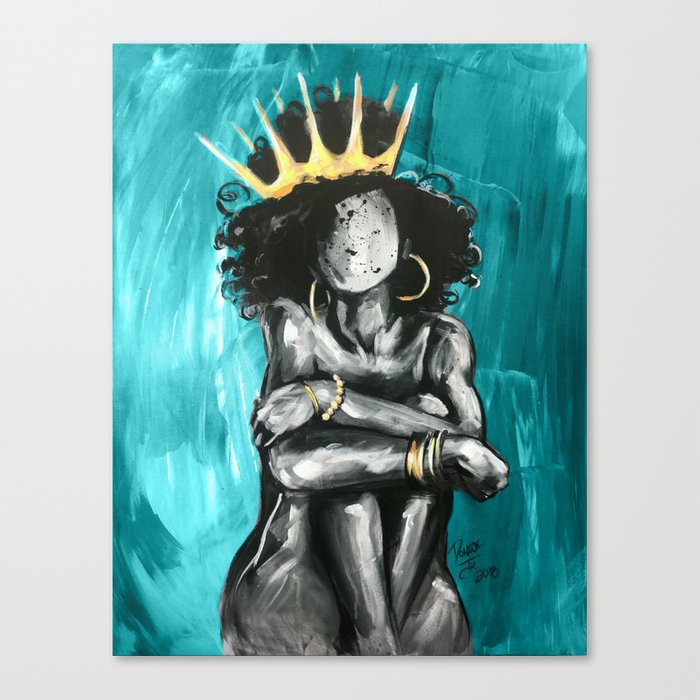 Naturally Queen IX TEAL Leinwanddruck