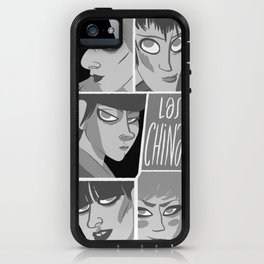 Las chinas Black and White iPhone Case