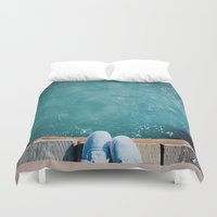 vans Duvet Covers featuring Feeling Beachy by Thoughtless Ideas