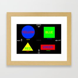 confusion induction Framed Art Print