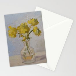 Yellow Flower Painting Stationery Cards