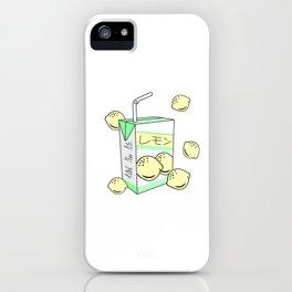 Japanese Lemon Juice Box 90s Aesthetic Pastel Anime iPhone Case