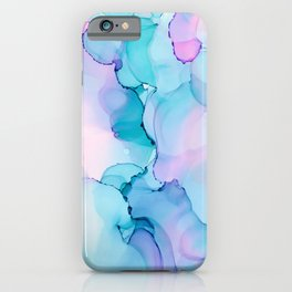 Alcohol Ink - Pastel Clouds iPhone Case