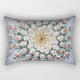 Face of a Barrel Cactus Rectangular Pillow