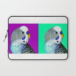 Blue Boy Budgie Bird Laptop Sleeve