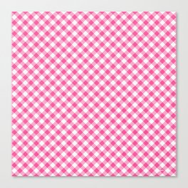 Pink Roses in Anzures 1 Gingham 1 Canvas Print