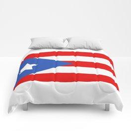 flag puerto rico Comforters