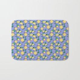 Purple lemons Bath Mat