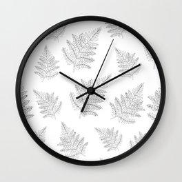 Farn Pattern Wall Clock
