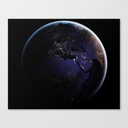 The Earth at Night 1 Canvas Print