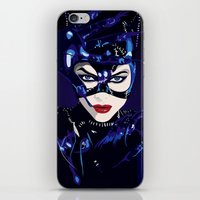 catwoman iPhone & iPod Skins featuring Catwoman  by Jordi Hayman Design