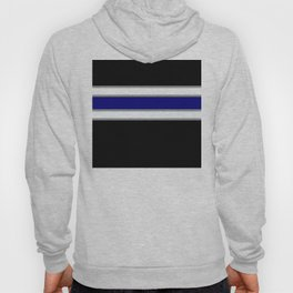 Team Colors 2....blue double gray white..stripes Hoody