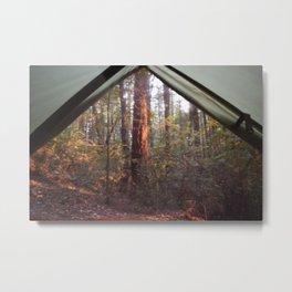 Tent Camping Metal Print