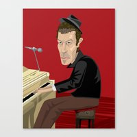 tom waits Canvas Prints featuring Tom Waits by Oliver Lake