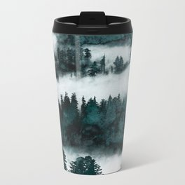 Foggy Forest Fun - Turquoise Mountains Metal Travel Mug