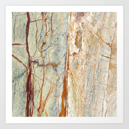 Colorful Textured Granite Art Print