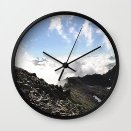 Stones & Clouds Wall Clock