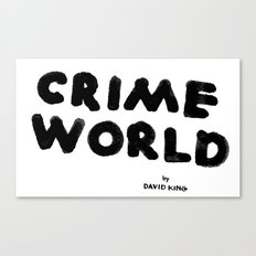Crime World Logo Canvas Print