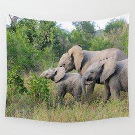 Elephant Family Wall Tapestry