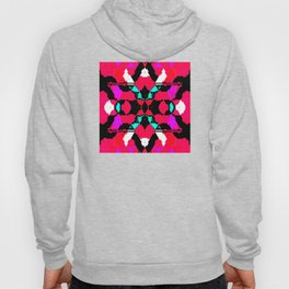 Abstract geometric infinite celestial star and flower burst pattern design in multicolors Hoody
