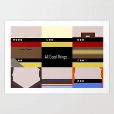 TNG - All Good Things - Minimalist Star Trek TNG The Next Generation 1701 D  startrek  Trektangles Art Print
