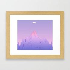 Soft Moon Framed Art Print