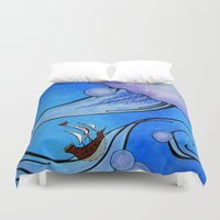 voyage Duvet Covers featuring Voyage by CSNSArt