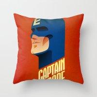 europe Throw Pillows featuring Captain Europe by Robert Farkas