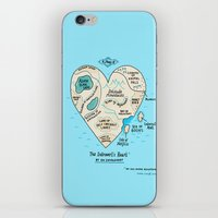 gemma iPhone & iPod Skins featuring A Map of the Introvert's Heart by gemma correll